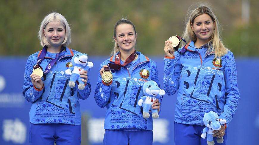 Могилевская спортсменка всоставе команды завоевала для Беларуси «золото» Всемирных военных игр вКитае