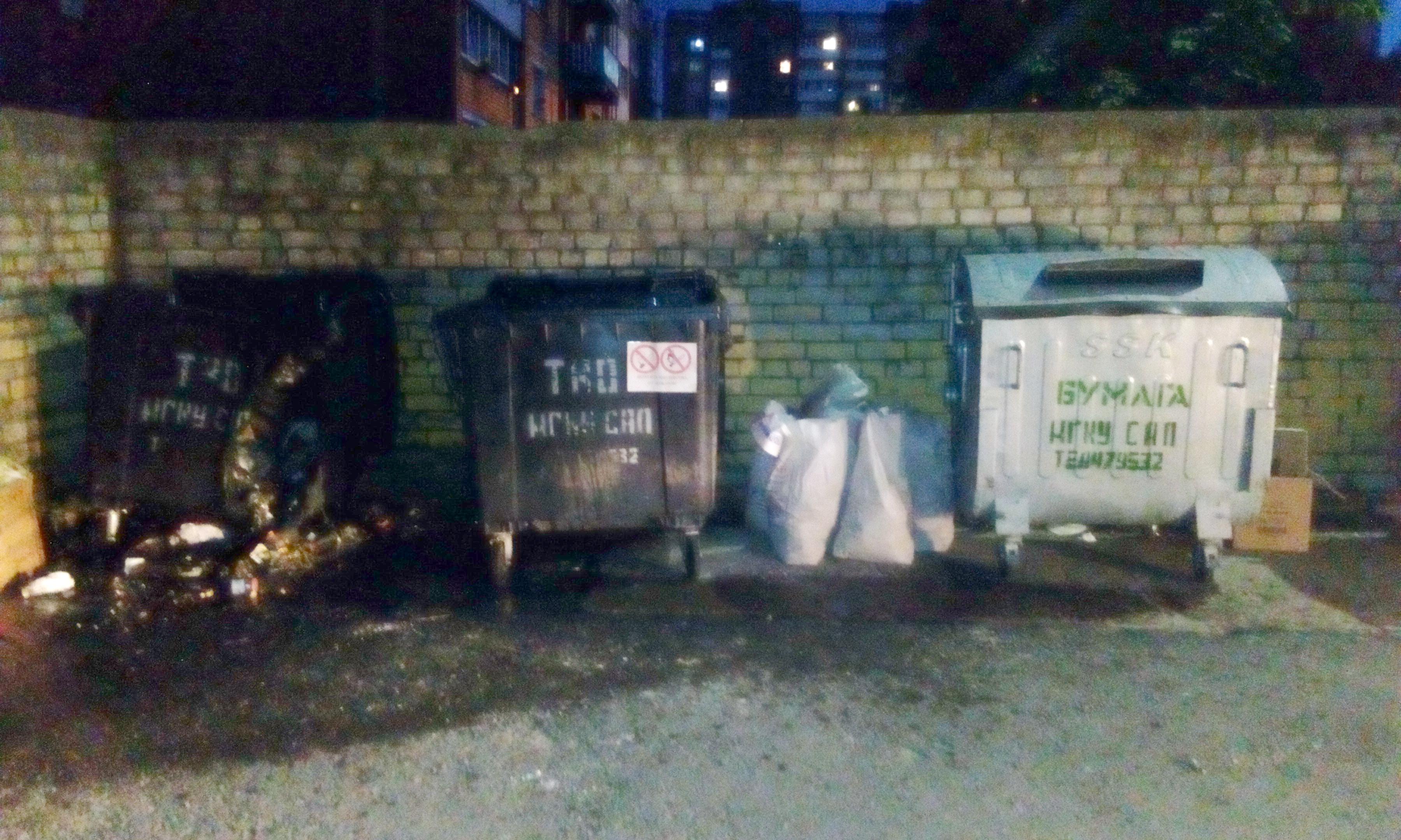18июня Могилевские спасатели дважды выезжали натушение возгораний мусорных контейнеров
