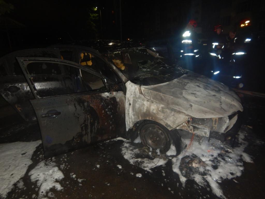 ВМогилеве сгорел автомобиль