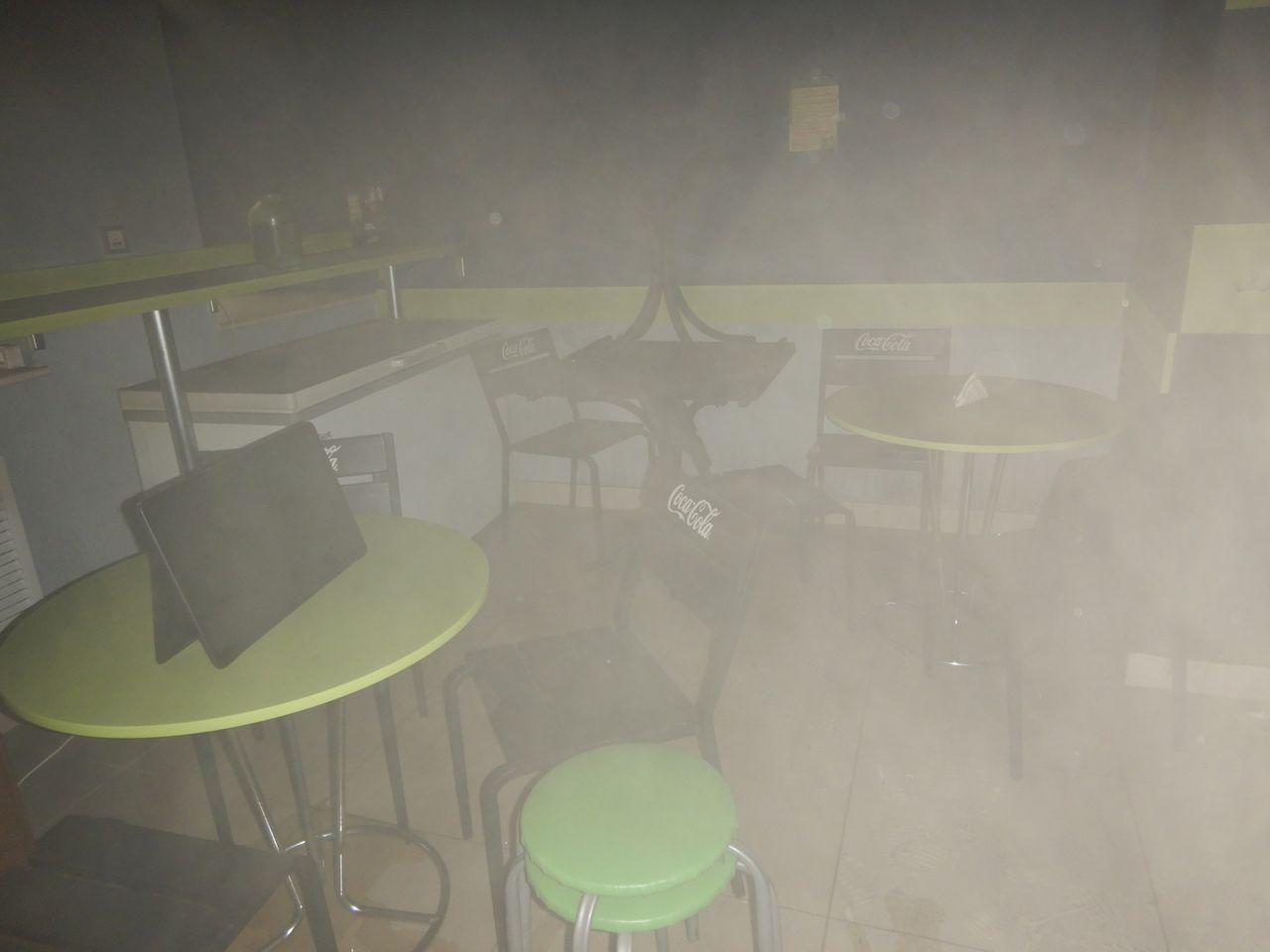 Кафе горело вцентре Могилева 1сентября