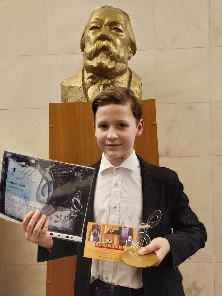 Диплом лауреатаI степени наМеждународном конкурсе классической музыки завоевал юный могилевчанин