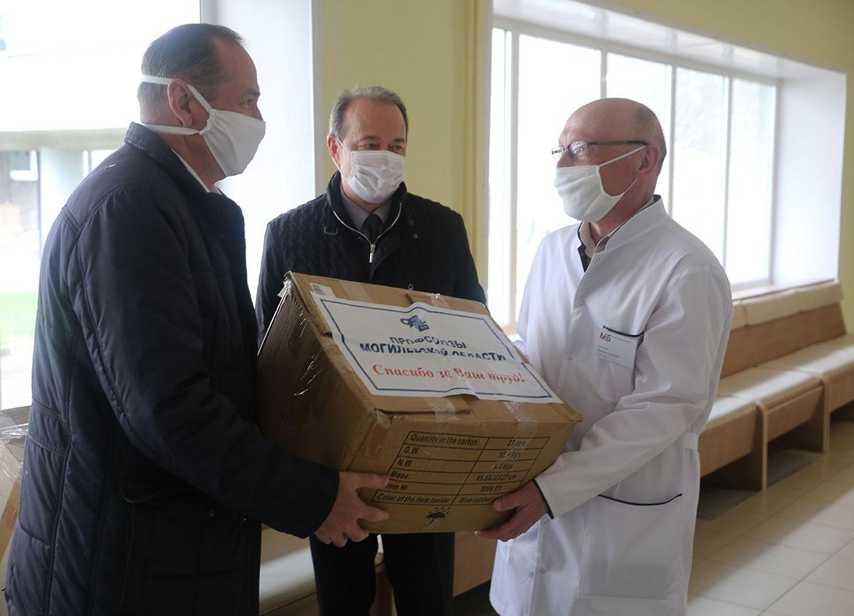 Профсоюзы области оказали благотворительную помощь учреждениям здравоохранения Могилева
