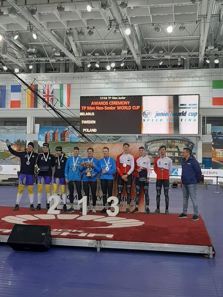 Могилевские конькобежцы завоевали медали различного достоинства нафинальном этапеКМ мира среди юниоров