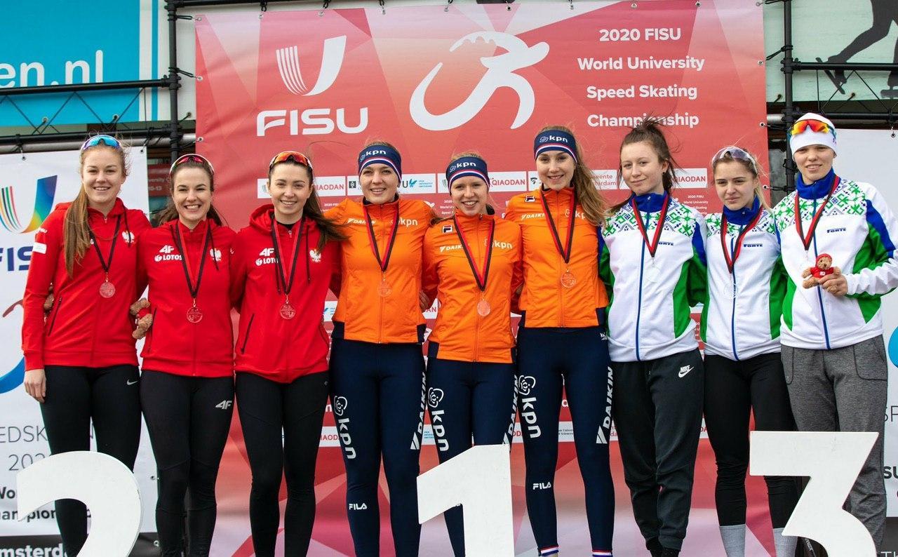Могилевская спортсменка стала бронзовым призером всоставе команды чемпионата мира поконькобежному спорту среди студентов