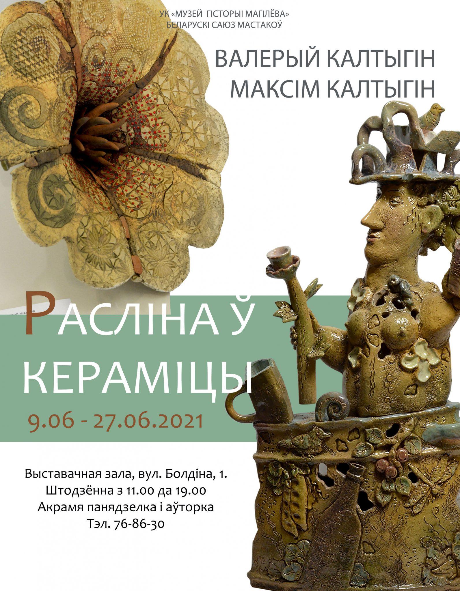 Выставка керамики Валерия иМаксима Колтыгиных начнет работу вМогилеве 9июня