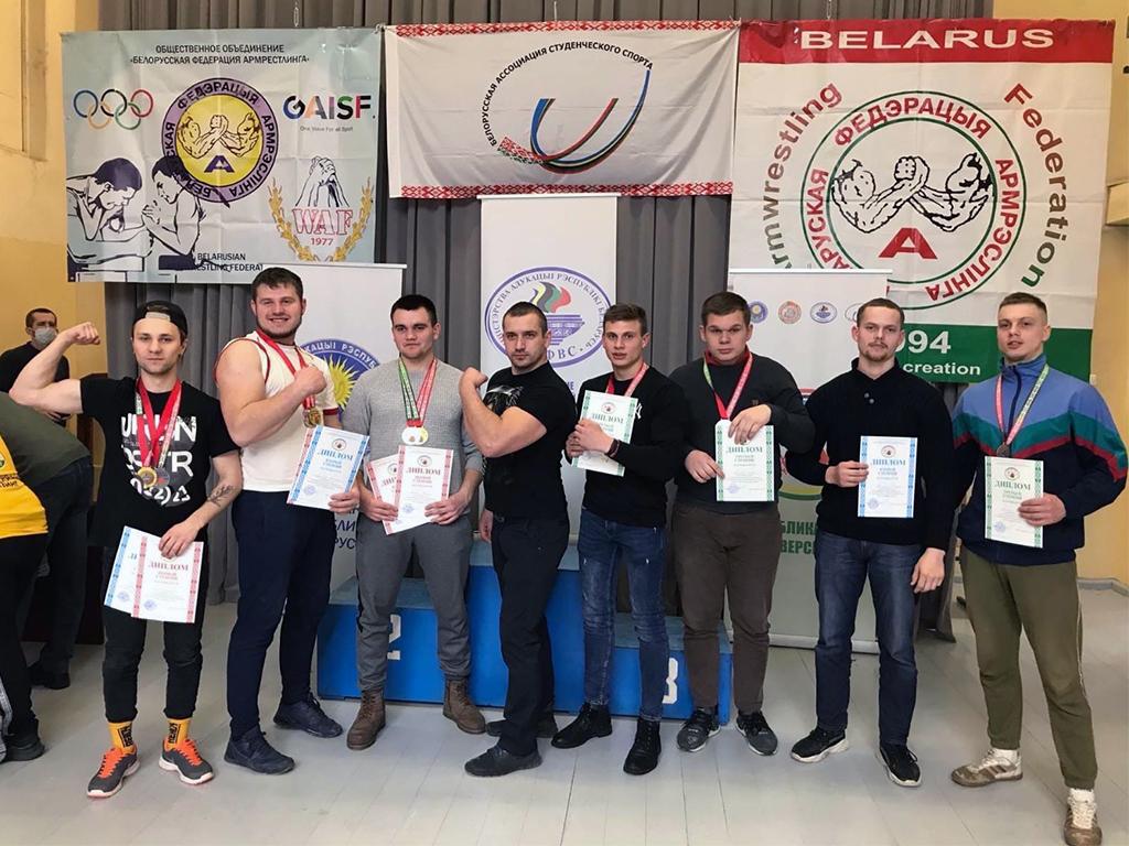 Сборная команда Белорусско-Российского университета завоевала 10медалей Республиканской универсиаде— 2021 поармрестлингу