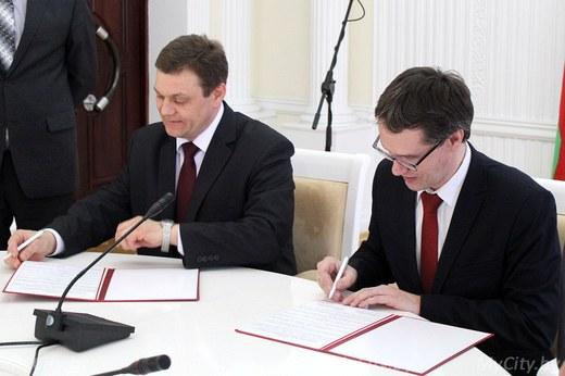 «Связанные одной целью»: Могилёвское агентство развития и СЭЗ «Могилёв» подписали договор о сотрудничестве