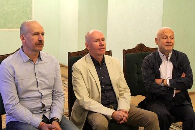 В.Петрович, С.Ковалёв, С.Варнас