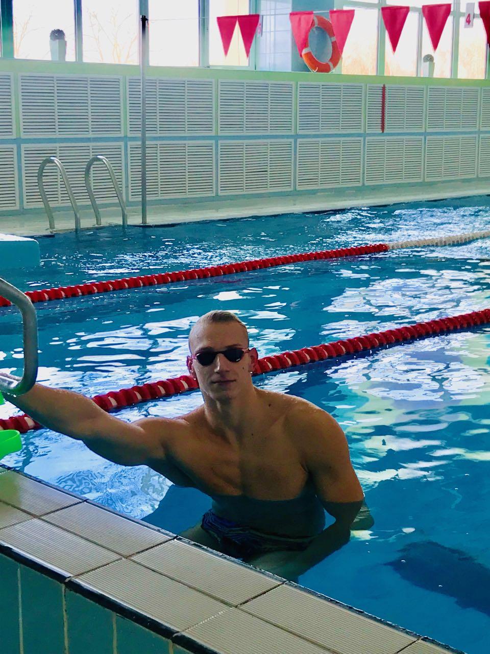 Международный турнир «Рижский спринт» стал «золотым» для могилёвского пловца