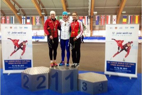Четыре «бронзы» завоевали могилевчане на финале Кубка мира по конькобежному спорту среди юниоров и молодёжи