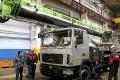 Пять 25-тонных автокранов «Зумлион-МАЗ» сделали в Могилёве. На очереди ещё восемь