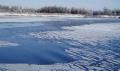 В Могилёве на Днепре наблюдается ледовстав с полыньями, закраинами и заберегами