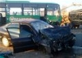 Под Могилёвом столкнулись легковушка и автобус – погиб мужчина
